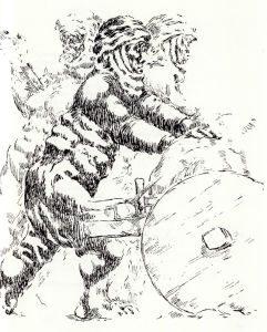 """Kuvâyi Milliye'nin """"Kadınlarımız"""" bölümünden, Abidin Dino çizimi"""